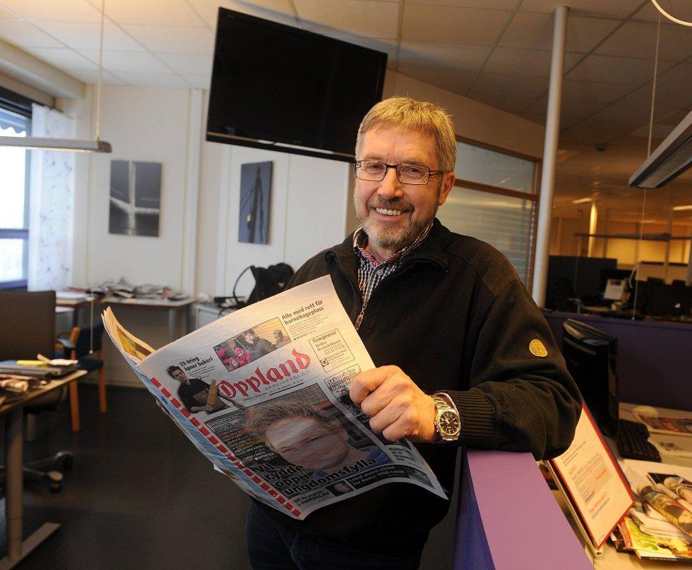 GÅR AV: Sjefredaktør Jens Olai Jenssen slutter til sommeren. Prosessen med å finne hans etterfølger er i gang. Foto: Henning Gulbrandsen