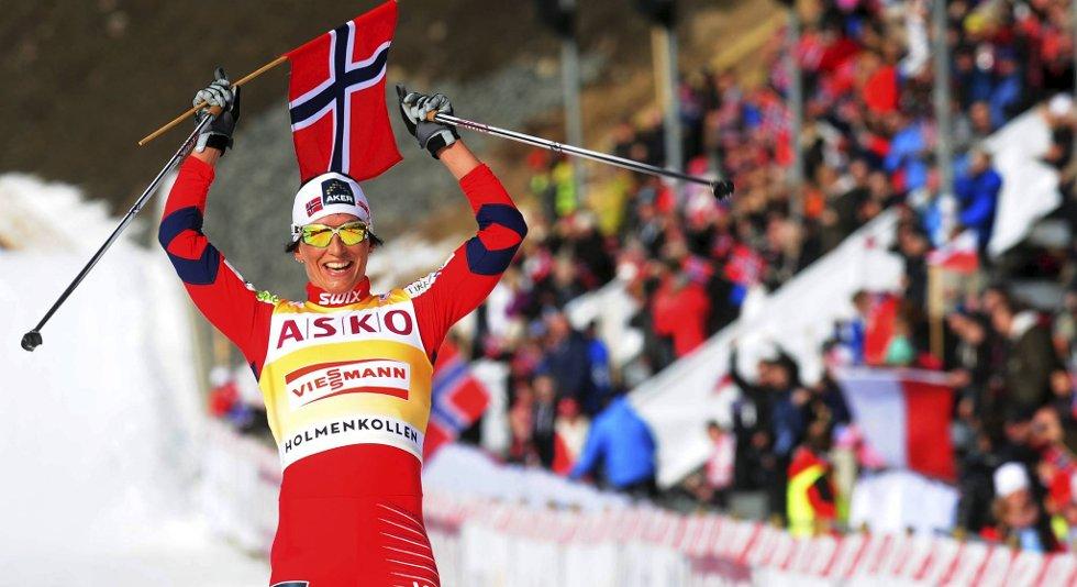 Marit Bjørgen vant 30-kilometeren i Holmenkollen søndag.