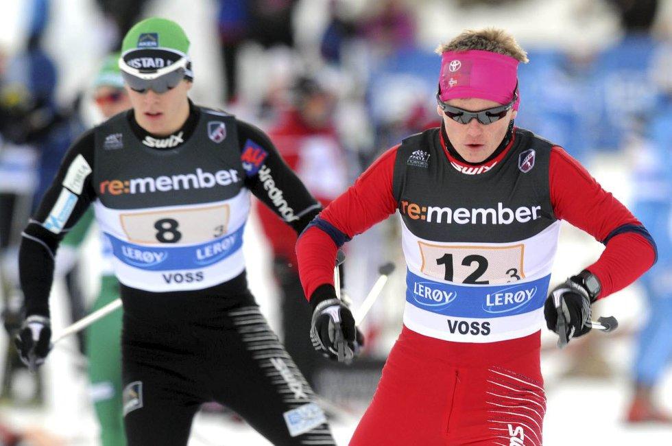MEDALJE: Lykkes Audun Erisktad (t.h.) å ta medalje i junior-NM? Med full klaff kan det bli pallplass for 17-åringen.