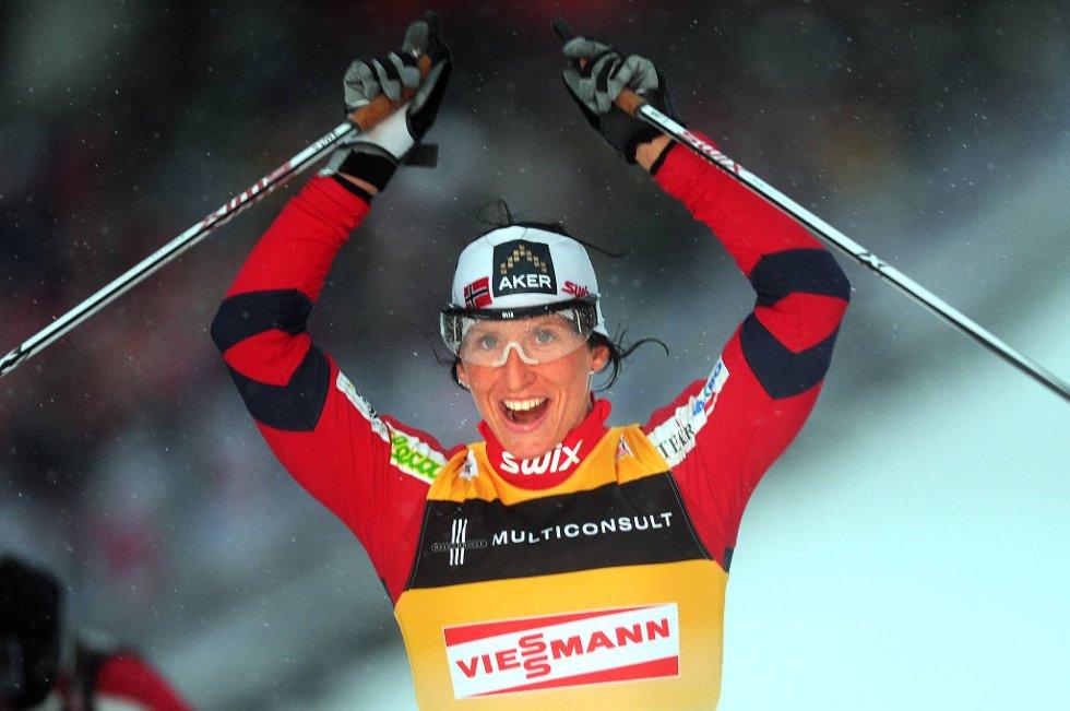 Marit Bjørgen var nok en gang sterkest av kvinnene som stilte til start.