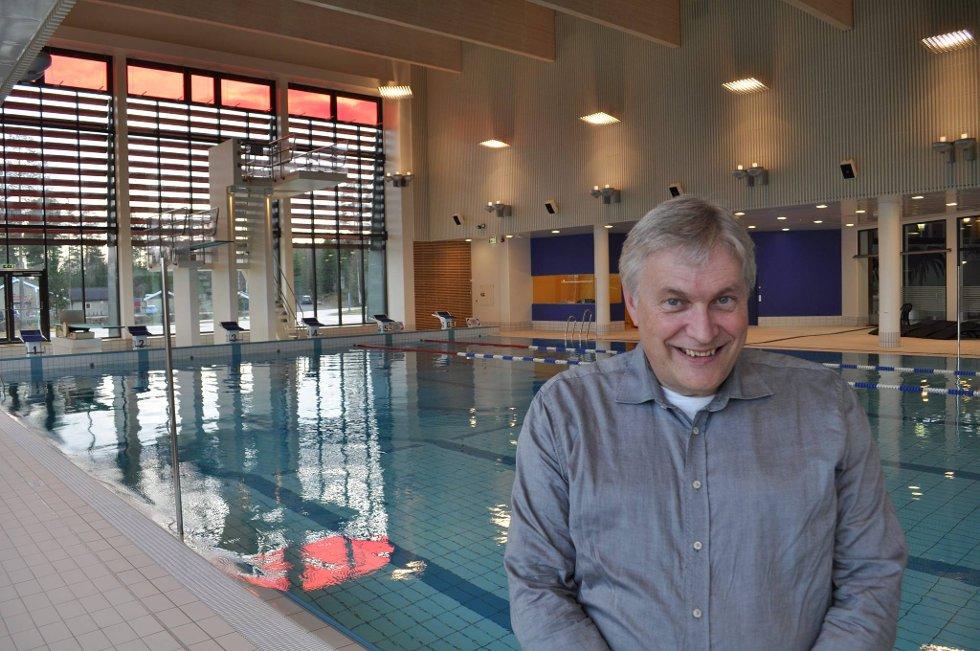 fornøyd: Vi er fornøyd med at så mange kommer til Totenbadet, sier styreleder Frank A. Møller. arkivbilde