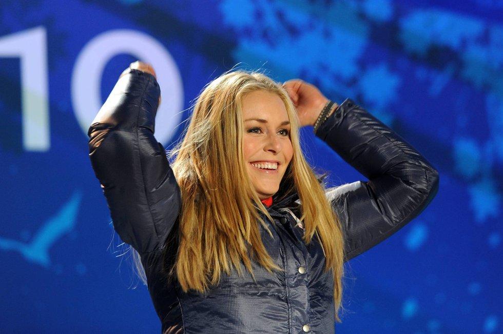 Lindsey Vonn ble nummer åtte og satte poengrekord sammenlagt.