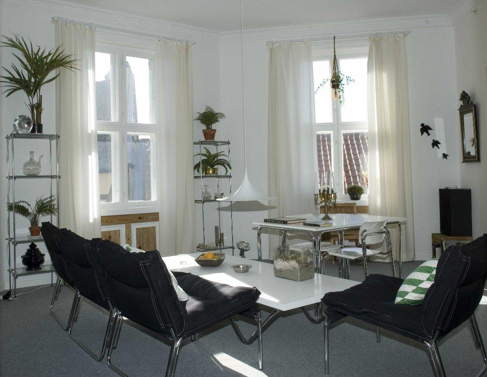 Denne leiligheten befinner seg på Norsk Folkemuseum. Den er en nøyaktig kopi av en leilighet som er ble innredet i perioden 1976-1979. Det var et ungt interiørarkitektpar som bodde der. (Foto: Norsk Folkemuseum)