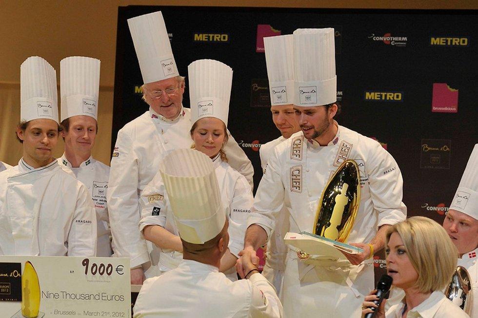 Den norske kokken Ørjan Johannessen (26) serverte til topplassering i konkurransen Bocuse d'Or Europe onsdag.