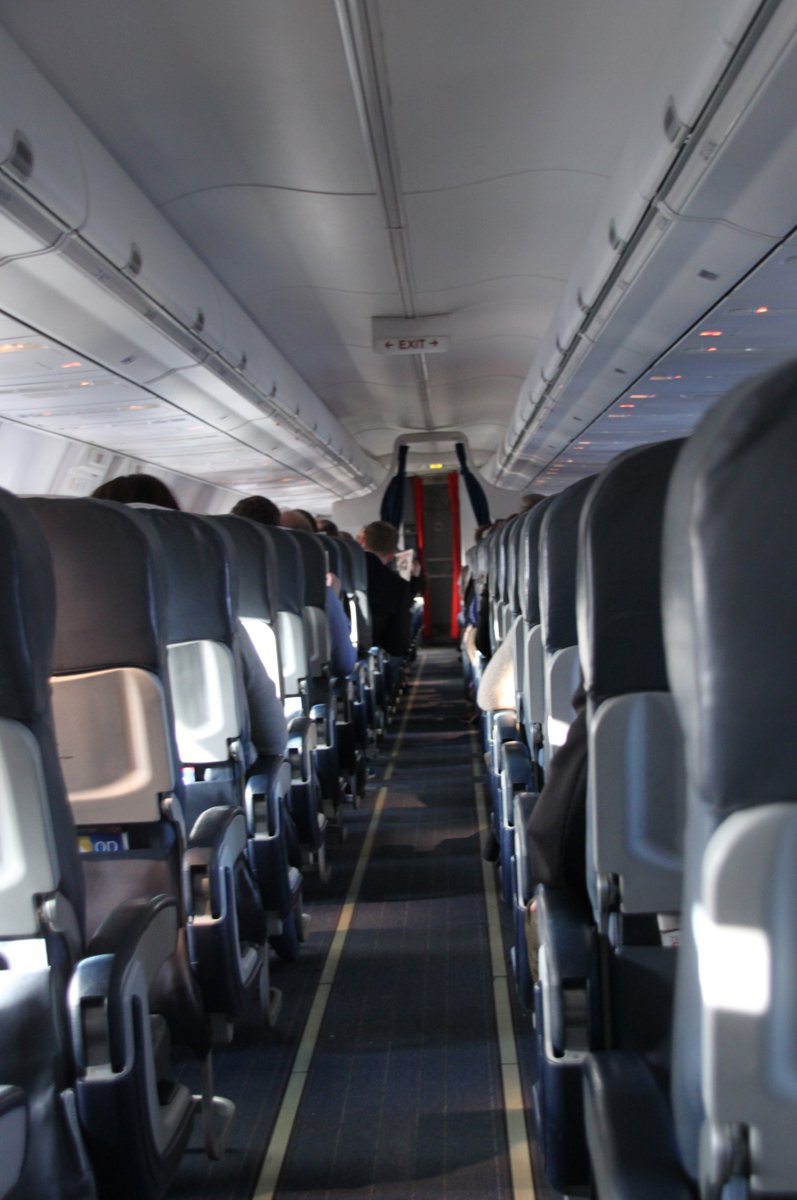 Flykorridor: SK 373 på tur fra Værnes til Gardermoen (Foto: Trine M. Albrigtsen)