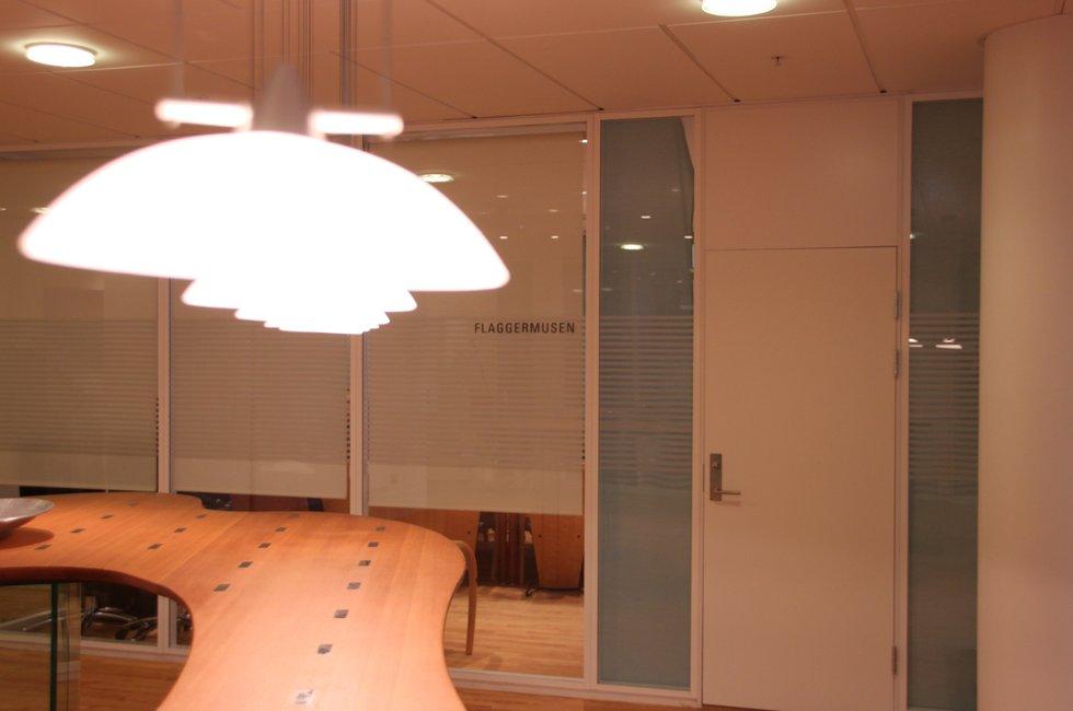 Bak lukkede dører. Avinors møte med delegasjonen fra Vefsn og Alstahaug fikk ikke Helgelands Blad være med på. (Foto: Trine M. Albrigtsen)