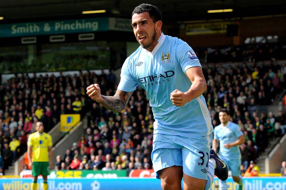 Carlos Tevez, Manchester City, har feiret mange mål de siste ukene.