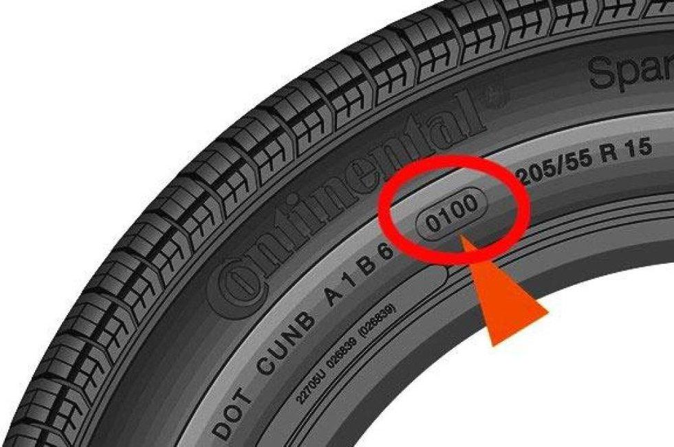 Produksjonsdatoen står stemplet inn i dekksiden som en liten kode. Dette er fire siffer etter hverandre, og de er ofte plassert inne i en oval.