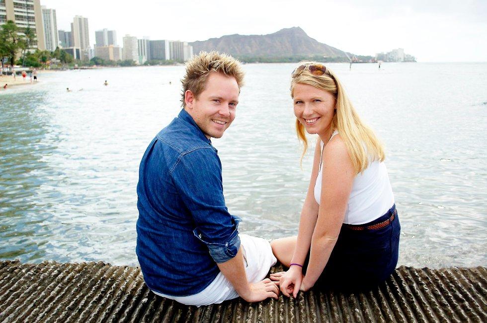 EKSOTISK: Da Maren Karlstad og Tommy Løvaas bestemte seg for å studere i utlandet dro de like godt                                                 til Hawaii.