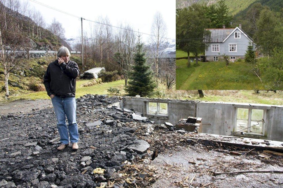 I 2010 kjøpte Arild Gjervik Demmahuset for å flytte inn i det. No er huset jamna med jorda.