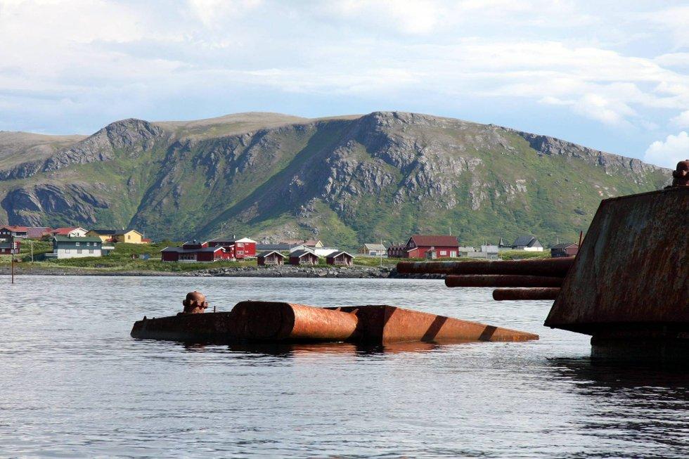 Den havarerte russiske krysseren Murmansk havarerte utenfor Sørvær i Finnmark i 1994.