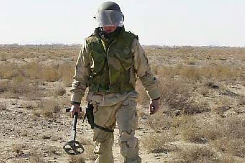 Norsk minerydder pågrepet i grenseområdet mellom Sudan og Sør-Sudan. Illustrasjonsfoto.