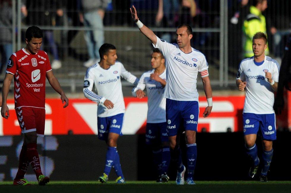 Bojan Zajic scoret da Vålerenga tok med seg tre poeng hjem til Oslo.