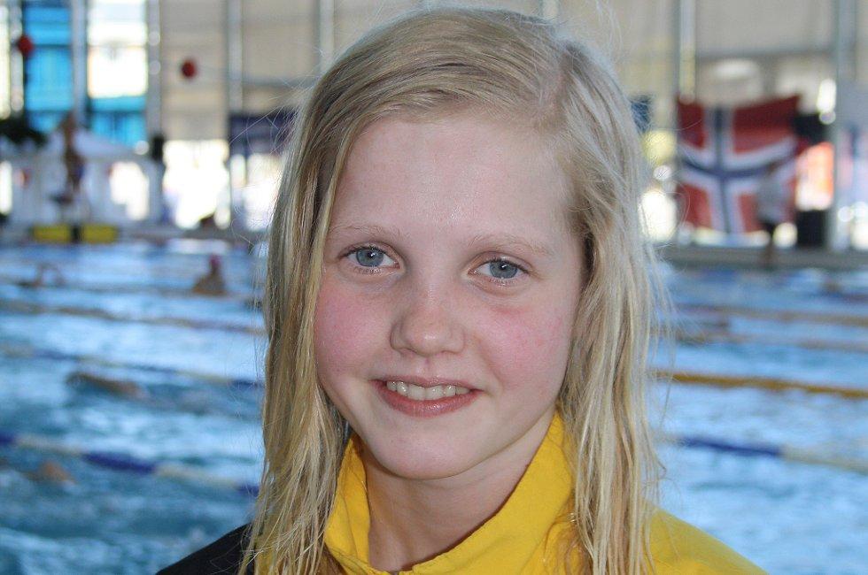 Tuva S. Tronstad klarte målet, og er klar for junior-NM i svømming.