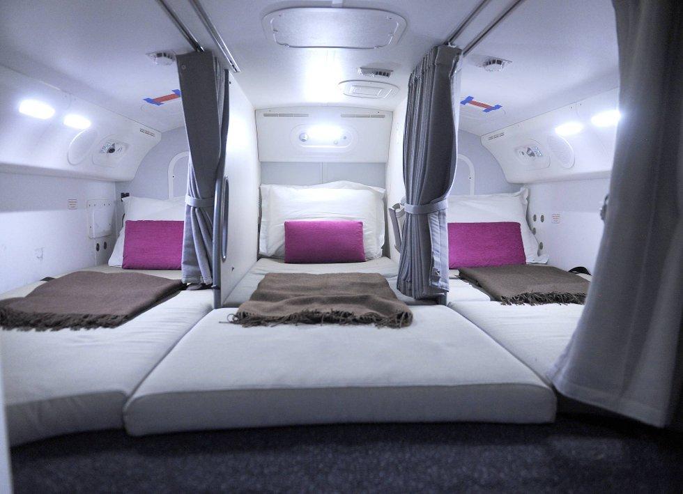 Høy komfort om bord i en Dreamliner.  (Foto: Terje Pedersen, ANB)
