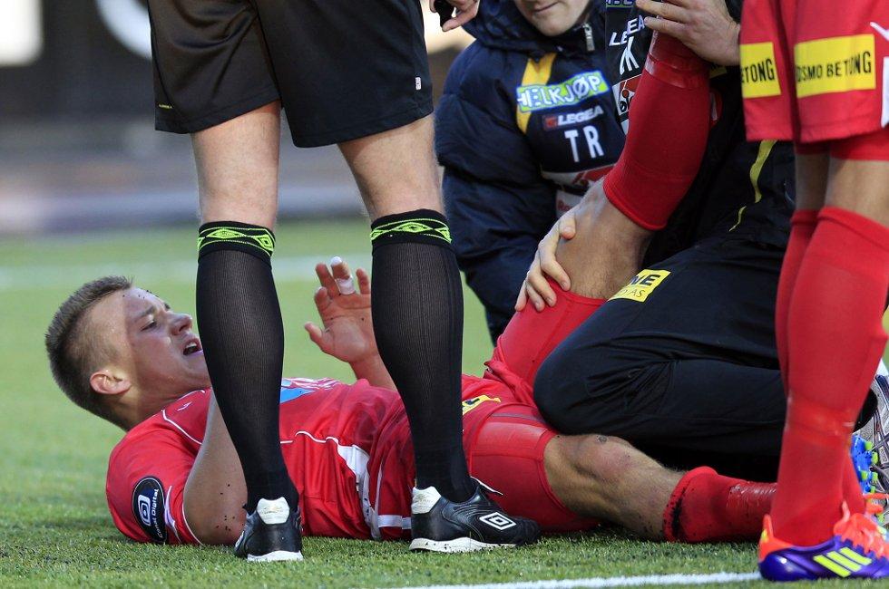 SKADEFRI: Fredrik Gulbrandsen har ikke spilt siden serieåpningen mot Hønefoss. Men nå er er han kvitt strekkskaden.
