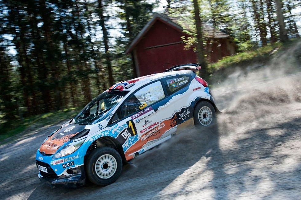 Mats Østberg under rallyet