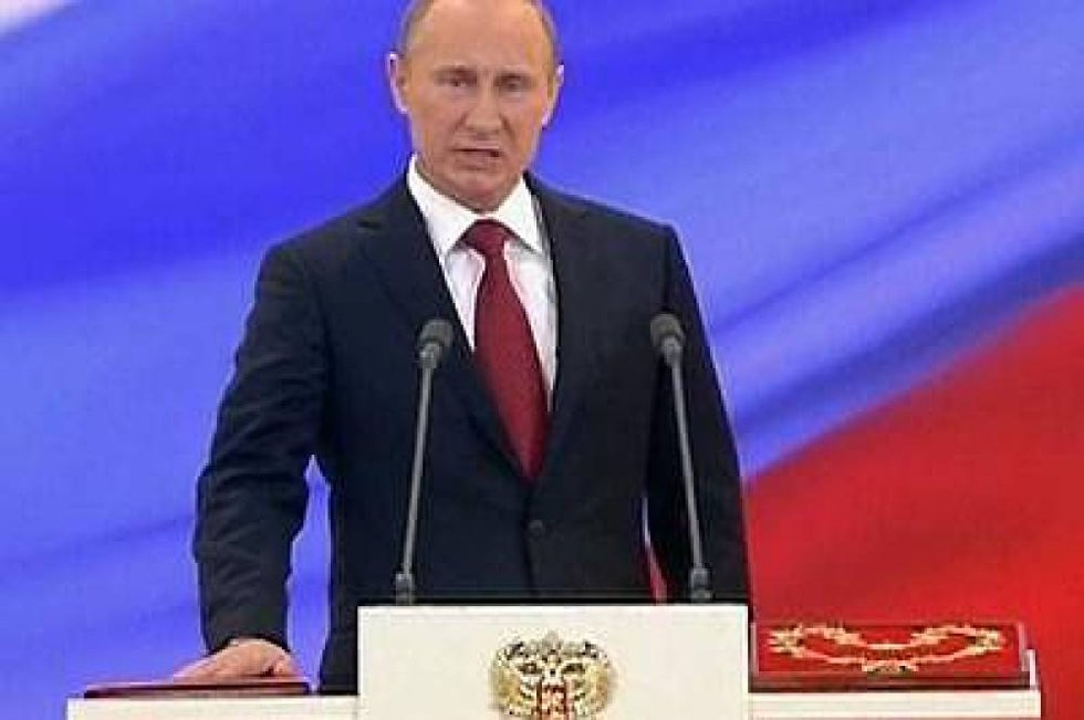 Vladimir Putin ble tatt i ed som Russlands president for tredje gang.