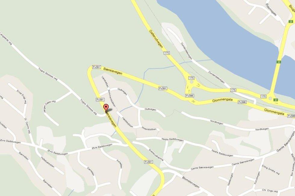 Trafikkuhellet skjedde på fylkesvei 391, Bæreiavegen, tirsdag formiddag.
