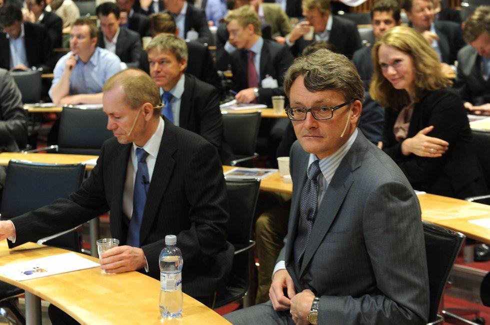 Øyvind Eriksen kan glede seg over et pent aksjehopp for Aker Solutions onsdag.