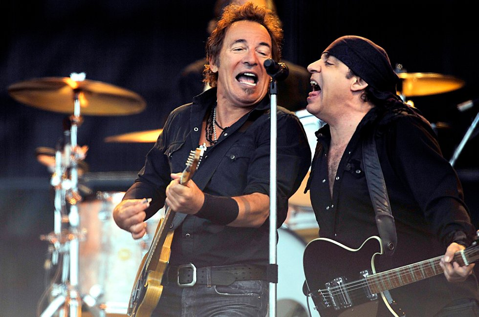 Bruce Springsteen og Little Steven på Valle Hovin i Oslo foran 40000 tilskuere i 2008.