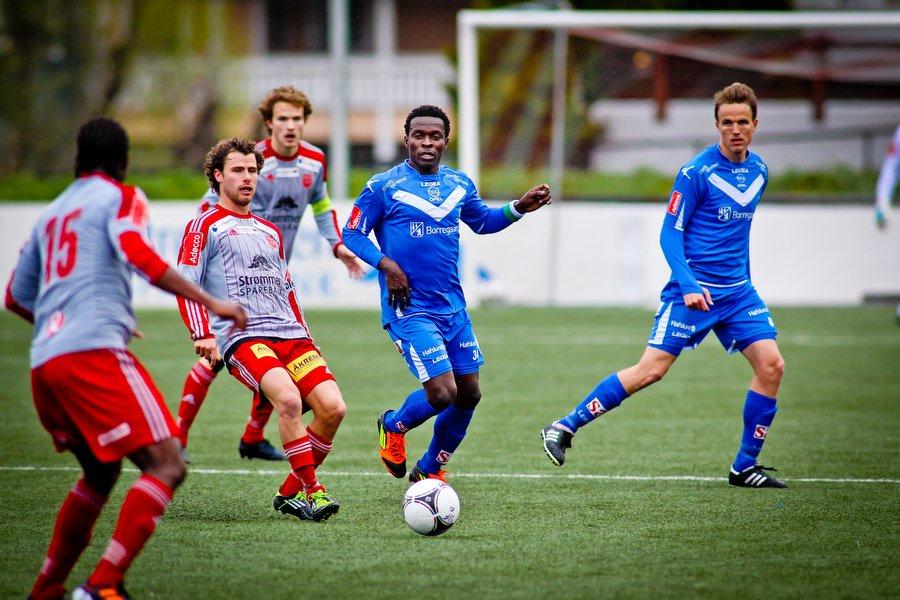 Adeccoligaen , Fotball , 13.05.2012 , Strømmen Stadion , Strømmen v Sarpsborg 08 , Stanley Ihugba , Foto: Thomas Andersen (Foto: Thomas Andersen)