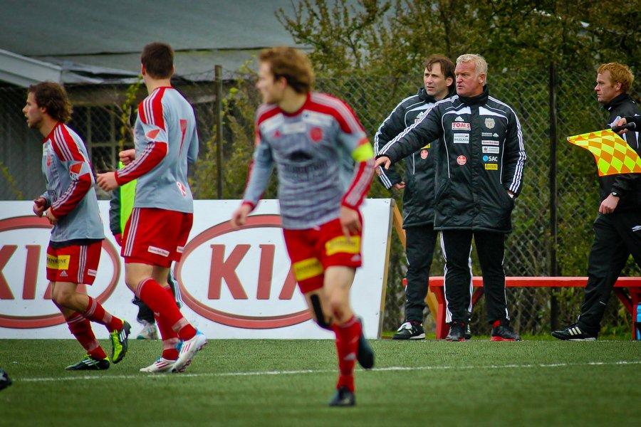 Adeccoligaen , Fotball , 13.05.2012 , Strømmen Stadion , Strømmen v Sarpsborg 08 , Strømmen trener Erland Johnsen , Foto: Thomas Andersen (Foto: Thomas Andersen)