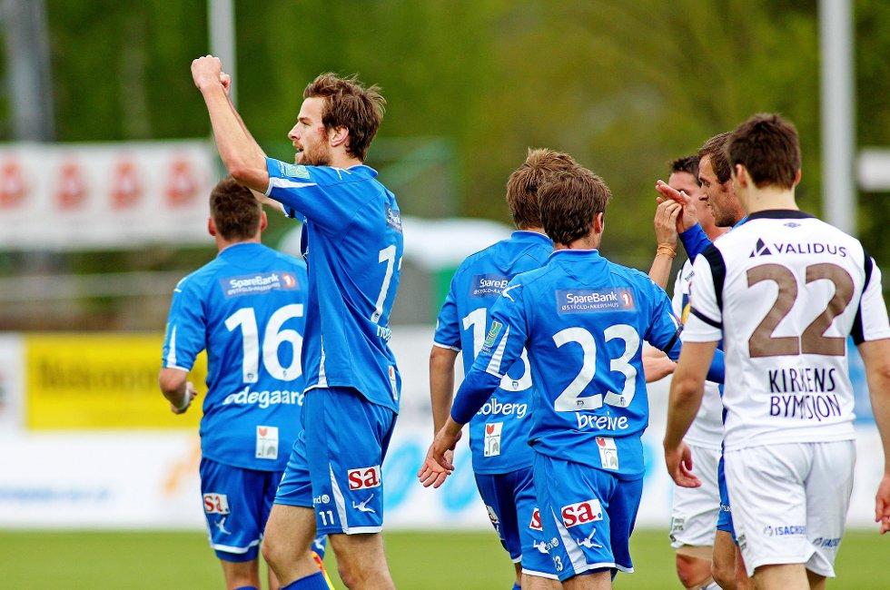 Sarpsborg 08 vant 3-1 over Mjøndalen på Sarpsborg stadion i årets 16. mai-kamp. (Foto: Thomas Andersen)