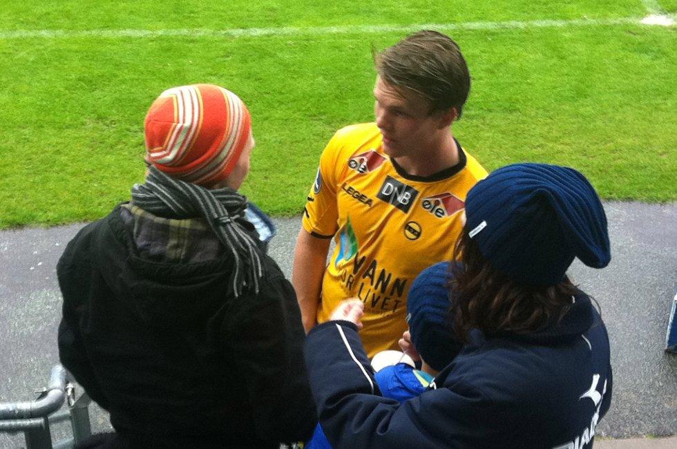 SCORET: Bjørn Bergmann Sigurdarsson har funnet scoringsformen og puttet begge målene mot Viking. Foto: Per Morten Sødal