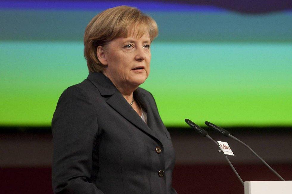 Tysklands statsminister Angela Merkel spiller en sentral rolle p EU-toppm¿tet om eurokrisen denne uken.