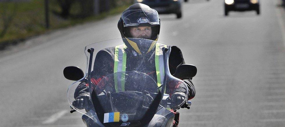 Kjell Hansen (74)  kjørte på scooter fra Gran Ganaria til Bodø.
