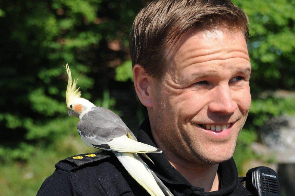 Politibetjent Espen Raaberg kunne pågripe rømlingen.