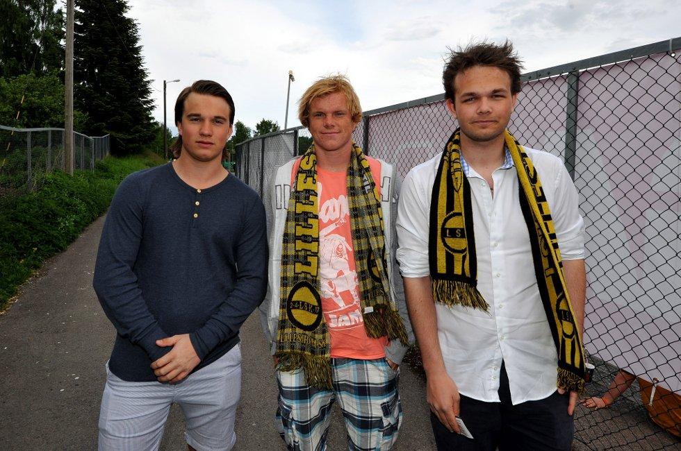 HAR TRO: Bjørn Sverre Liknes Østby, Marius Solhaug og Carl Christian Solberg har tro på seier i dag. LSK er gode mot lag som spiller åpent, forteller gutta. (Foto: Vidar Sandnes                   )