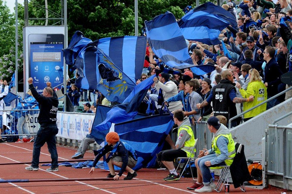 1-0: Stabæk har sørget for ledelsen og det skulle bli flere mål på veldig kort tid. (Foto: Vidar Sandnes                   )