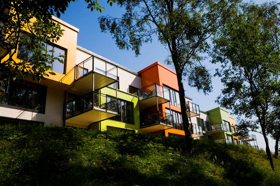 Eksempel på passivhus: Løvåshagen i Fyllingsdalen, Bergen.