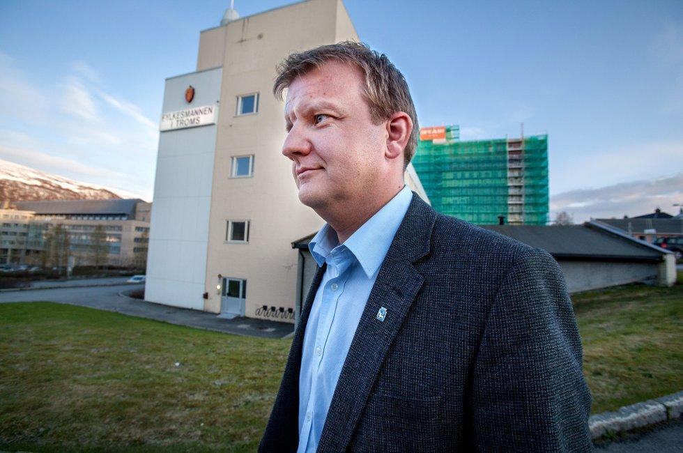 IKKE TILLIT: Byrådsleder Øyvinsd Hilmarsen sier han ikke lenger har tillit til styret i Troms Kraft.