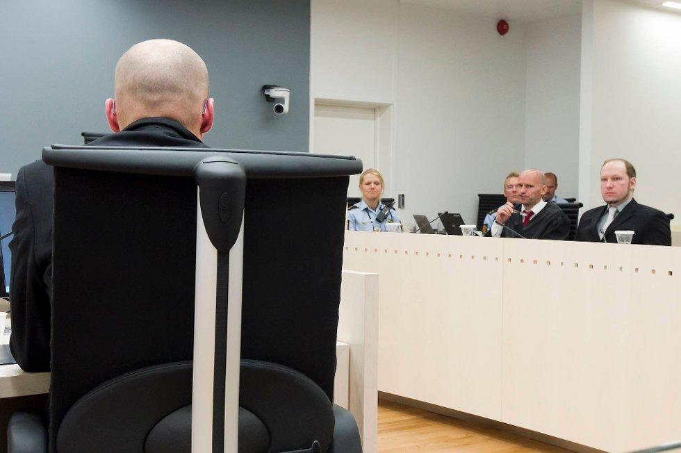 Terrorrettssaken mot Anders Behring Breivik i Oslo tingrett 2012. Terrorforsker Brynjar Lia vitnet i rettssal 250 fredag i syvende uke i rettssaken der Anders Behring Breivik står tiltalt for terrorangrepet i Oslo og på Utøya 22. juli 2011.