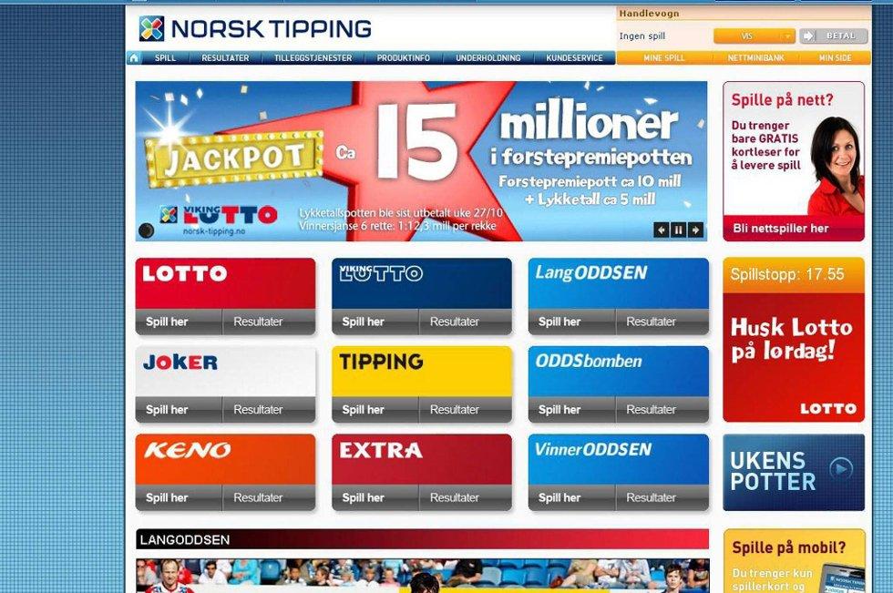Norsk Tipping får nettspill.