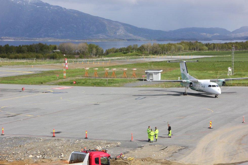 Stokka: Her er området som er aktuelt for forlenging nordover. 1. juni 2012. Foto: Lars Olve Hesjedal (Foto: )