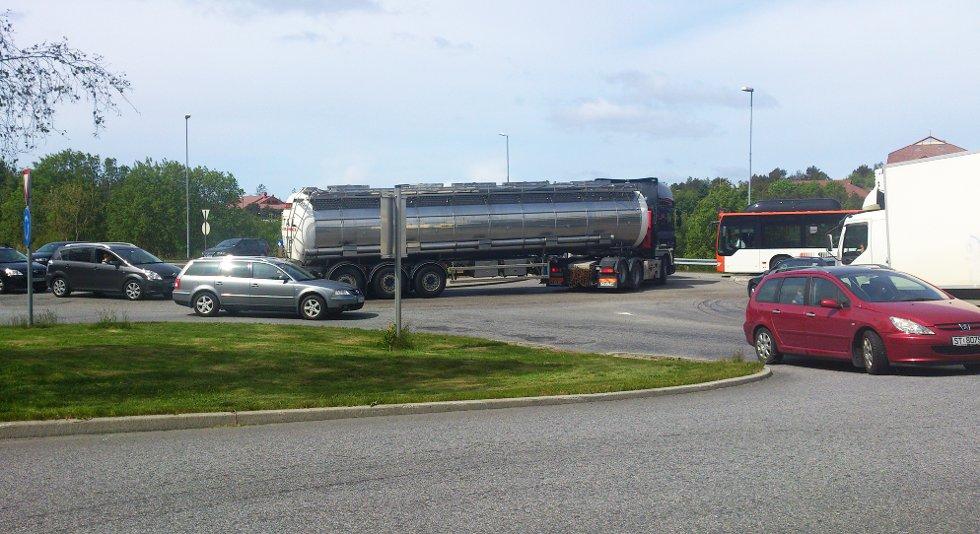 Køene sto forbi Sartor senter i retning Bergen.