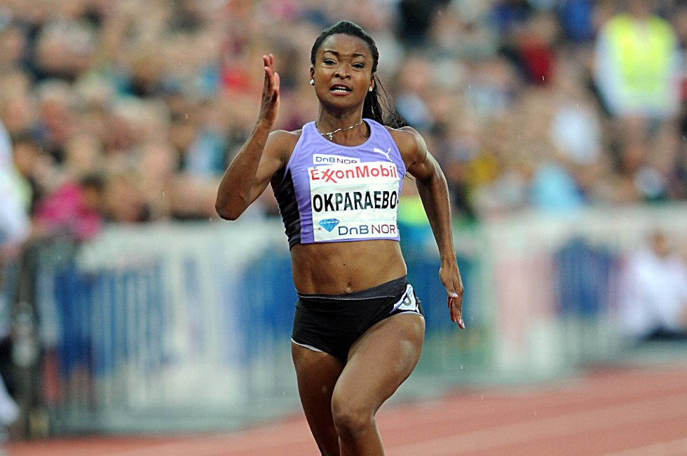 Ezinne Okparaebosatte ny norsk rekord på 100 meter.