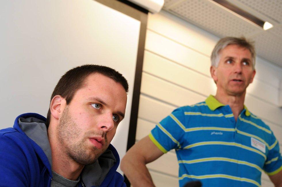Alexander Dale Oen (til venstre) og hans lege Ola Rønsen.