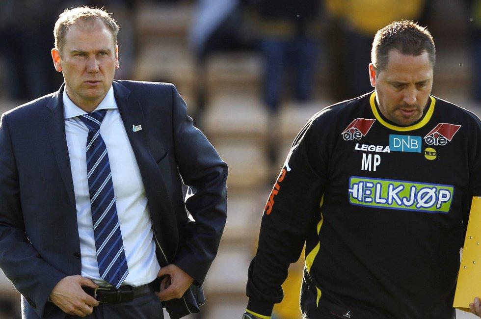 SISTE FORBEREDELSER: Før morgendagens oppgjør mot Ull/Kisa i cupen, stenger LSK-trener Magnus Haglund treningen for pressen.