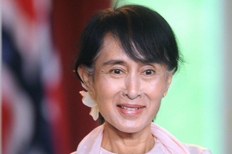 Aung San Suu Kyi besøkte Storbritannia tirsdag.