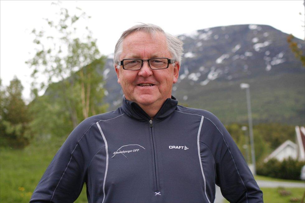 RETT TIL TOPPS:  Arrangør Kjell Arve Husby i Vollan IK lover tøffe forhold mot toppen når Almannbergjet Opp avholdes for fjerde gang.
