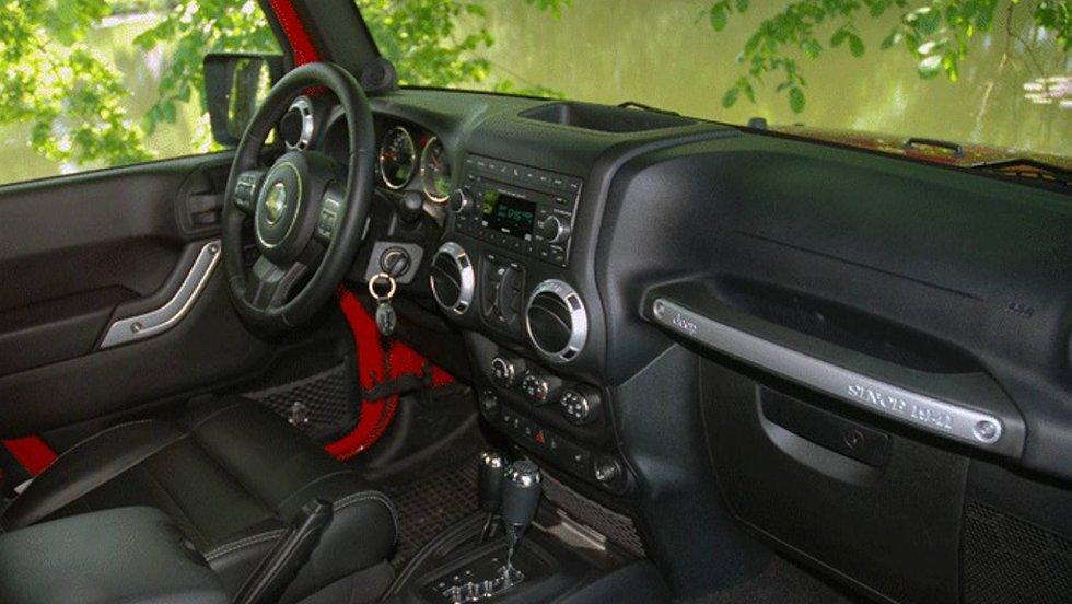 Også dashbordet er holdt i retrostil, men det er både funksjonelt og intuitivt.