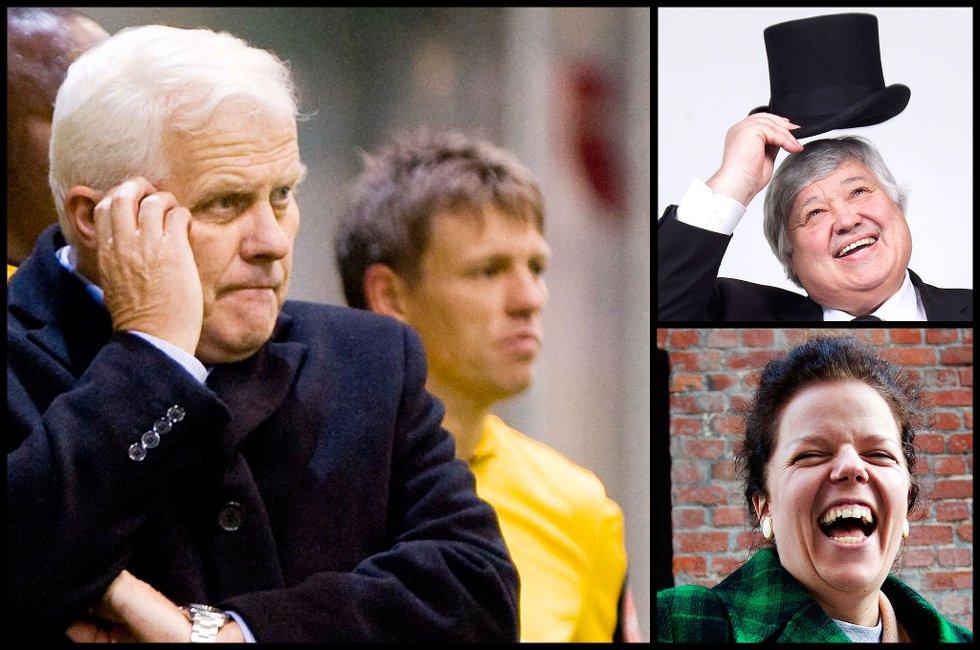 SIKKER: Tidligere LSK-trener og nå fotballekspert i TV 2, Ivar Hoff sier han er helt sikker på at LSK vinner. Ullensaker-ordfører og Jesseim-komiker Else Kåss Furuseth tror på Ull/Kisa  FOTO: RB
