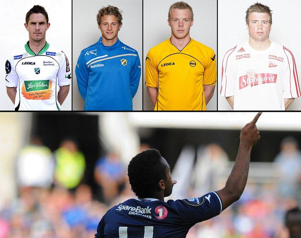 Rune Bolseth, Vegar Eggen Hedenstad, Erling Knudtzon, Simen Rafn og Ola Kamara kjemper om å vinne rundens mål-kåring.