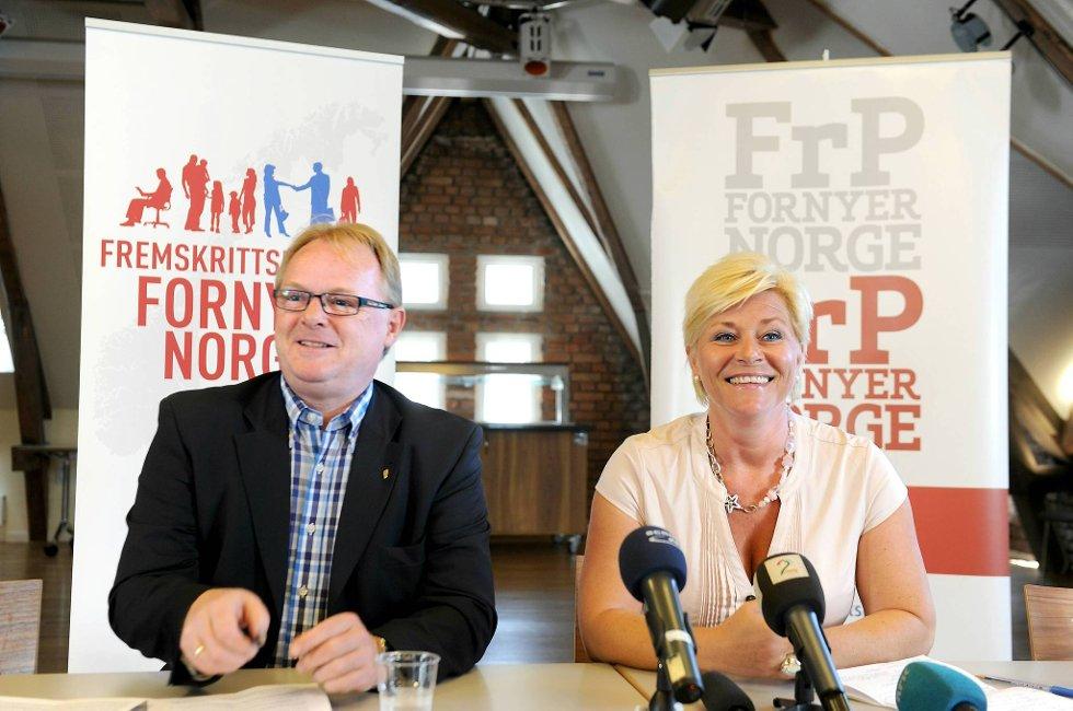 Regjeringen utviser mange på kreativitet, mener Siv Jensen og Per Sandberg.
