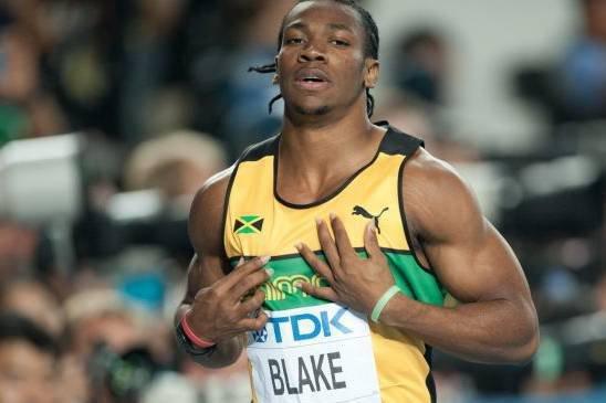 Yohan Blake knuste Bolt på 100 meter.